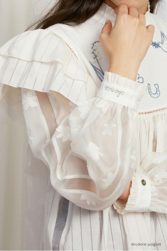 The Grigri blouse (ivory)