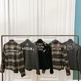 Personalized jackets made in Paris with leftover fabrics & hand embroidered by women in Dakar  #uniquepieces ♥️